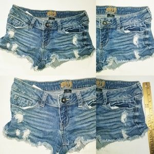 SPJ Women's Jean shorts Distressed Vintage Style i